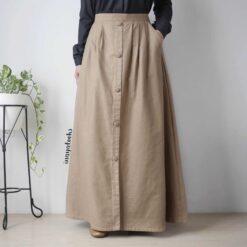 rok dari bahan linen